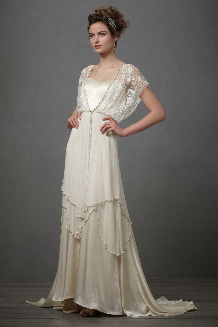 Robe de mariée années 20 esprit lingerie en soie et mousseline - Robe  Lita  Gown in Bride Wedding Dresses at BHLDN fe407ebf9f6
