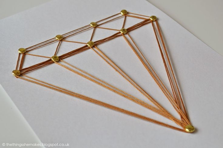 DIY: diamond brad and thread art