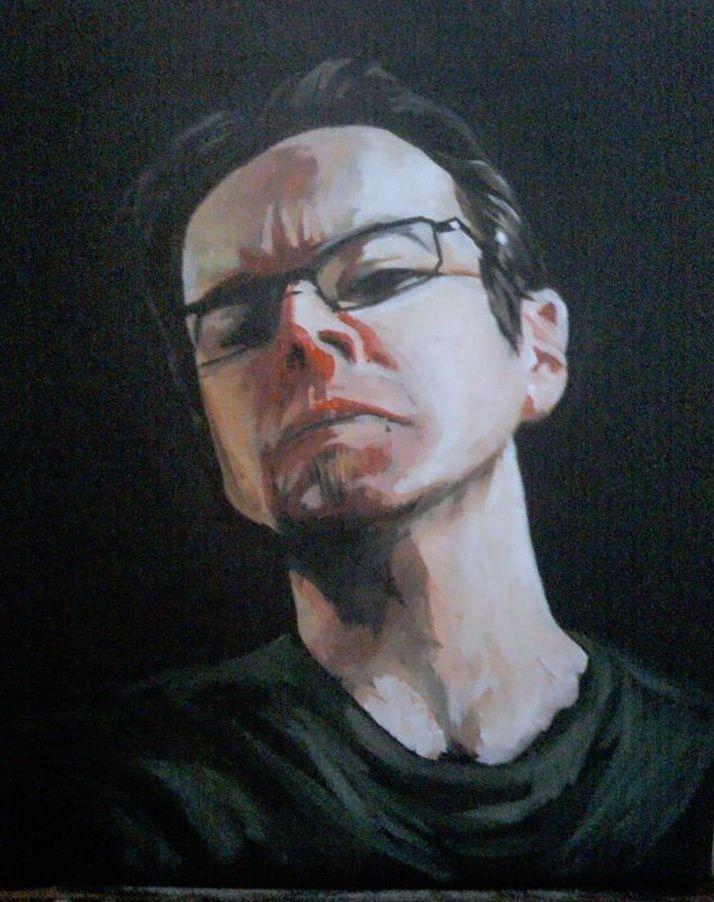 ARTWORK (painting) self portrait