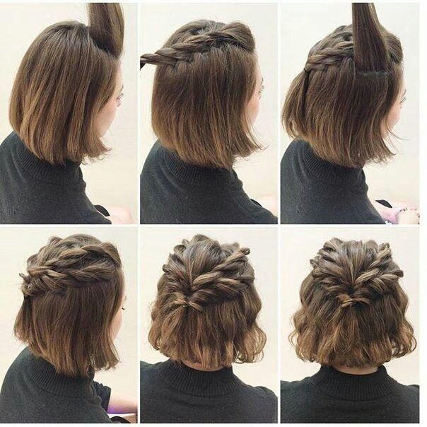 Красивая прическа на короткие волосы