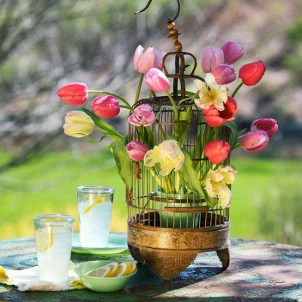 Frühlingsdeko basteln schöne Gartenideen zum Selbermachen