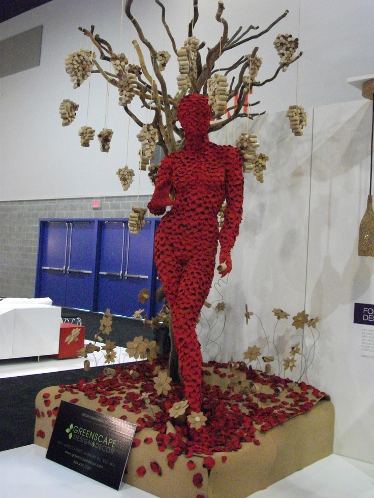 I saw this at the IDSWest Trade show. It was covered in rose petals, and the shape and colour drew me in from half way across the convention centre!