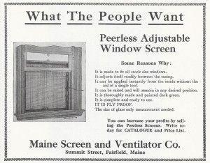 adjustable window screen 1911