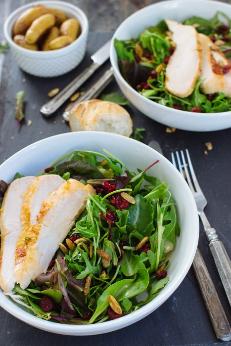 Roasted Chicken Salad with Goat Cheese and Champagne Vinaigrette – The Blonde Chef