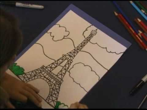 How to Draw the Eiffel Tower, brought to you by Young Rembrandts.  www.youngrembrandts.com