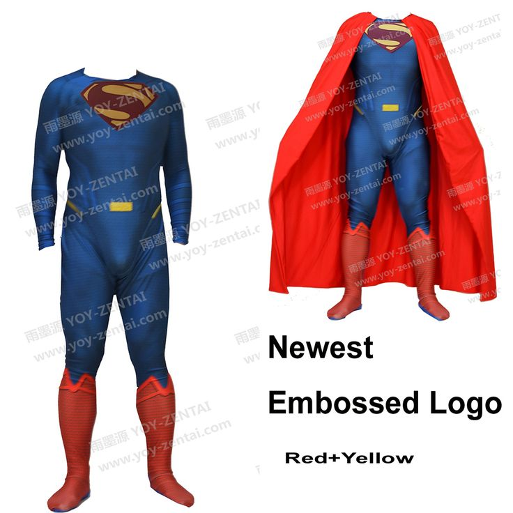 >> Click to Buy << Movie Coser Newest Relief Logo Red Logo Superman Spandex Suit Superman Costume #3 #Affiliate