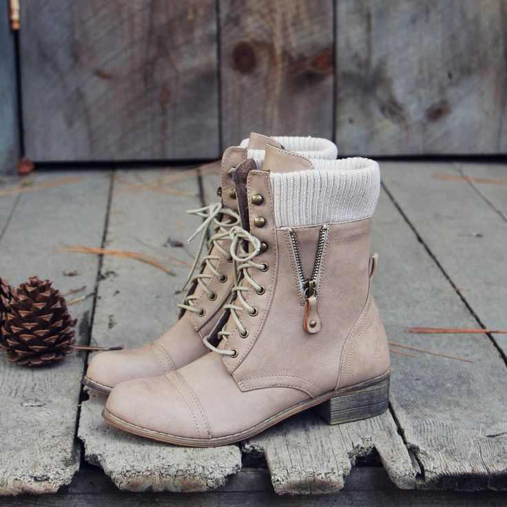 Heirloom Sweater Boots in Cedar, Sweet & Rugged boots from Spool No.72 | Spool No.72