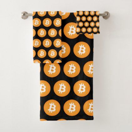 Cool Bitcoin Logo Bath Towel set - logo gifts art unique customize personalize