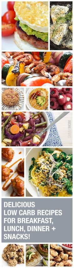 Cut the carbs with these 50 deliciously healthy low-carb meals! Breakfast, lunch, snacks and dinner, we've got you covered!