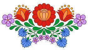 Modelo popular húngaro tradicional del bordado Imagenes de archivo
