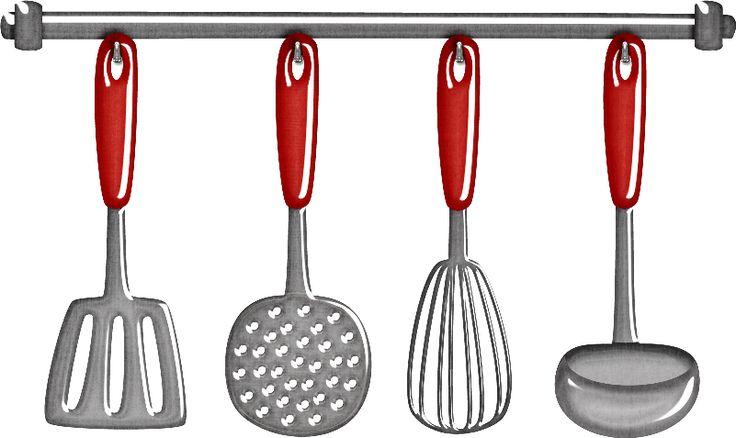Retro cocinera utensilios de cocina para dise o material for Cucharones de cocina