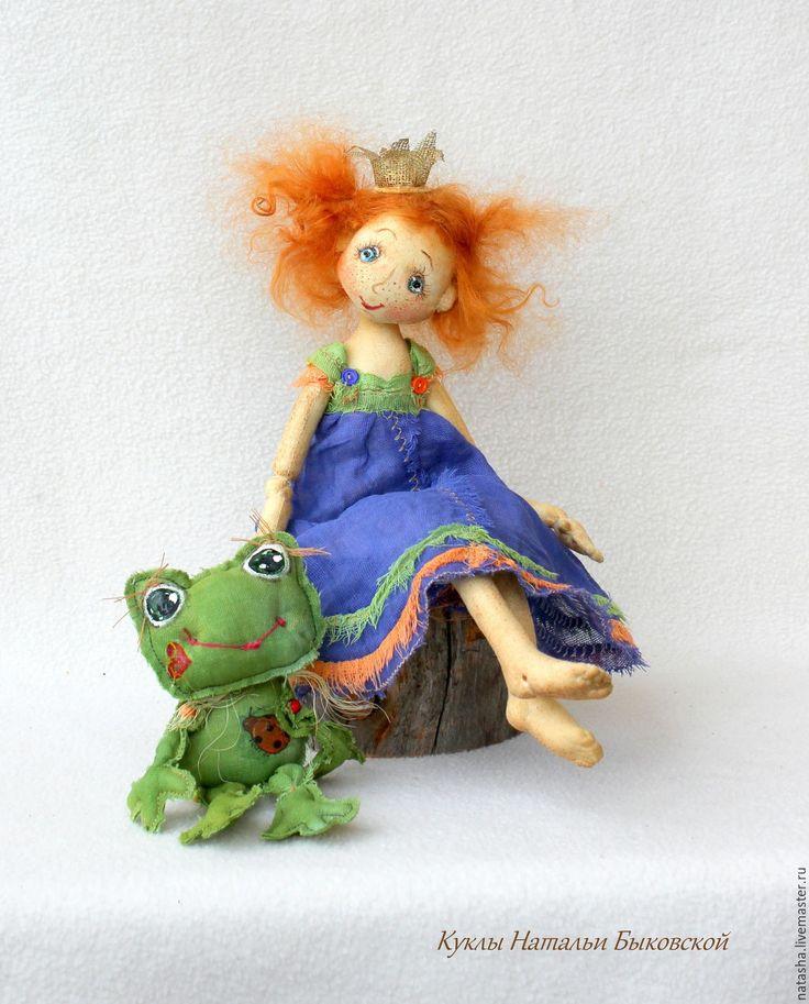 Купить ЦАРЕВНА С ЛЯГУШКОЙ :) - оранжевый, виктория кирдий, рыжая девочка, рыжая кукла