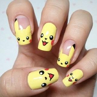 PIKACHU: Pokemon Nails, Nails Art, Cute Nails, Nails Design, Pikachunail, Pikachu Nails, Nails Ideas, Nails Polish, Long Long