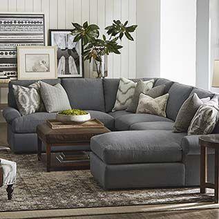 U-Shaped Sectional: square coffee table/ottoman