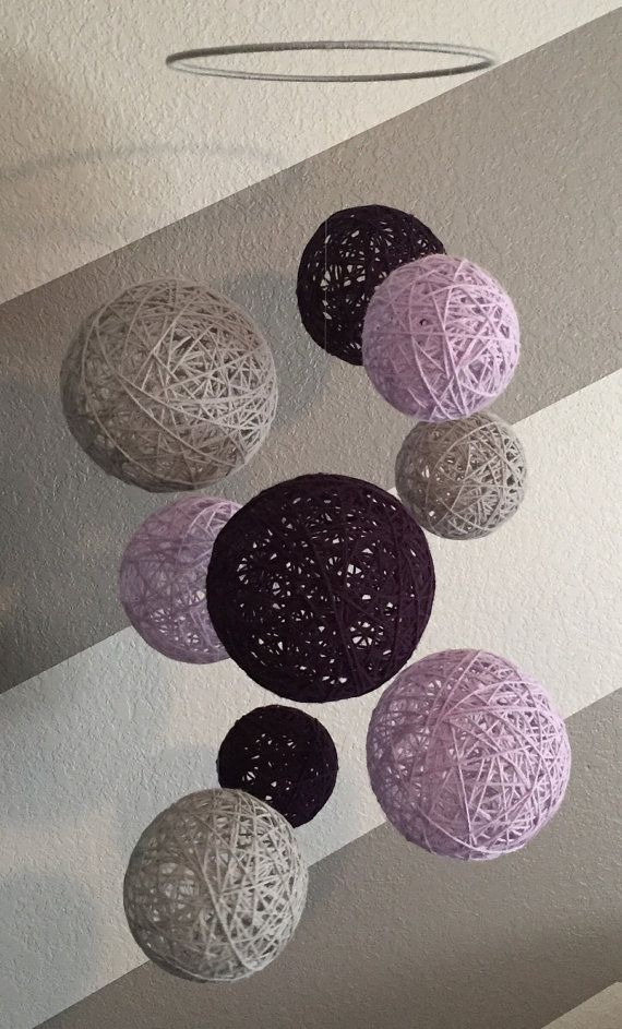 NEW ITEM Purple Orchid & Graymist Yarn Ball by Backporchcrafts85