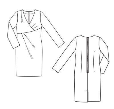 Платье - выкройка № 138 A из журнала 10/2011 Burda – выкройки платьев на Burdastyle.ru
