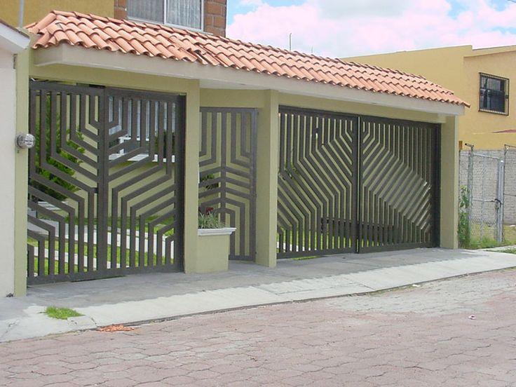 Porton para garage diseño                                                                                                                                                                                 Más