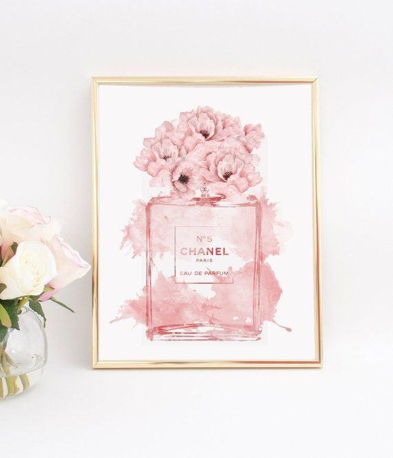 Inspired By Coco Chanel Wall Art Print Fashion Perfume Print Etsy Chanel Wall Art Chanel Wall Decor Fashion Wall Art
