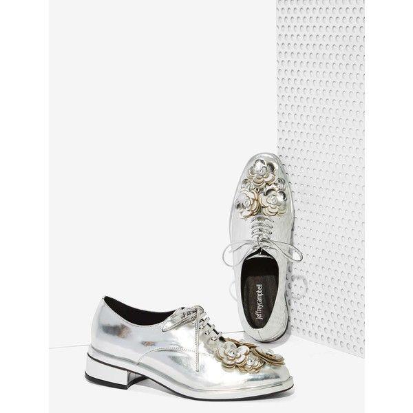 Jeffrey Campbell Novak Floral Shoe (510 MYR) ❤ liked on Polyvore