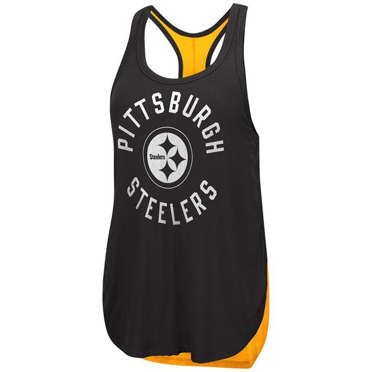 Shop the Official Steelers Pro Shop for Pittsburgh Steelers Women's Touch Colorblocked Equalizer Tank