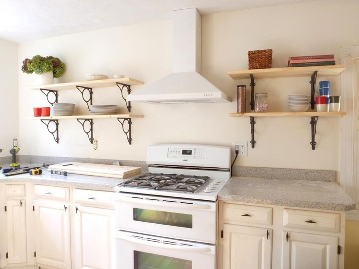 25 beste ideen over Wall Mounted Kitchen Shelves op Pinterest