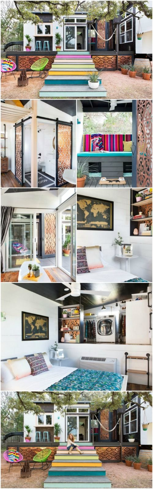 Designer Kim Lewis Helps Create Eclectic Tiny House In Austin Texas