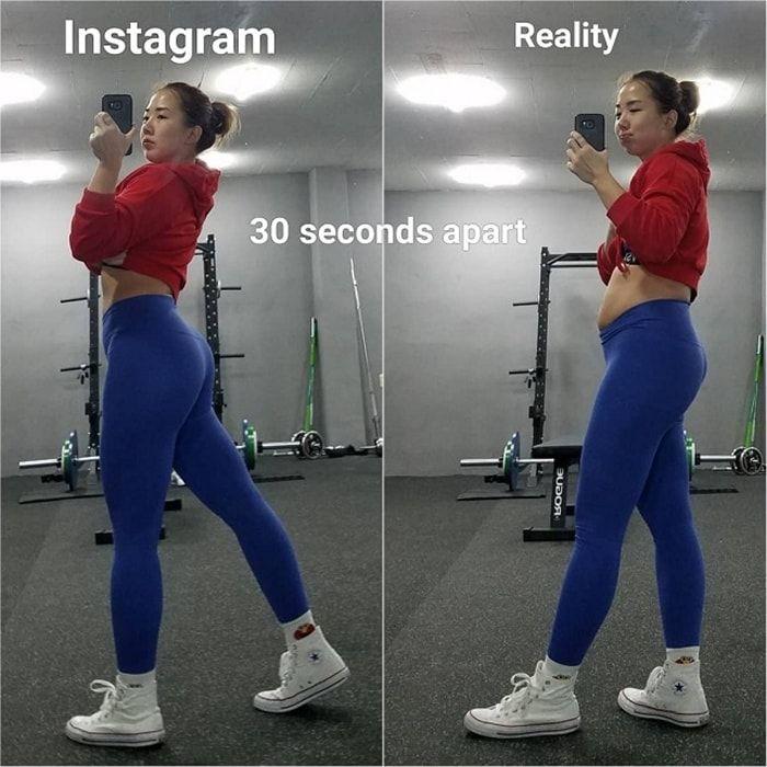 Sizi Şok Verecek Instagram Vs Reality Resimleri (19 Pics)