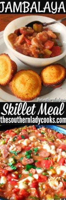 JAMBALAYA - SKILLET MEAL - The Southern Lady Cooks