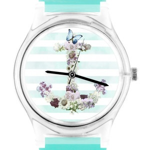 Floral Anchor Watch Unisex