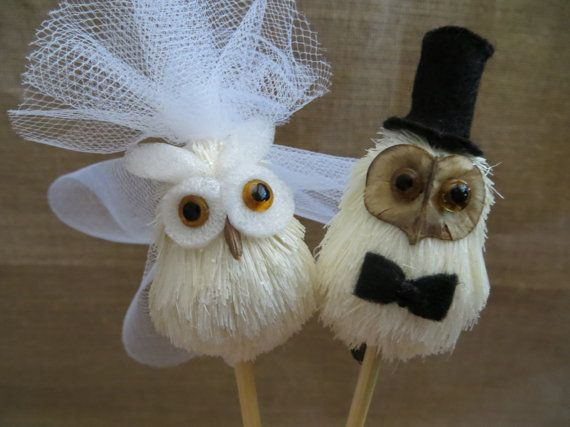 Owl Wedding Cake Topper, @Janelle L. for your marriage to Owl City! ;)