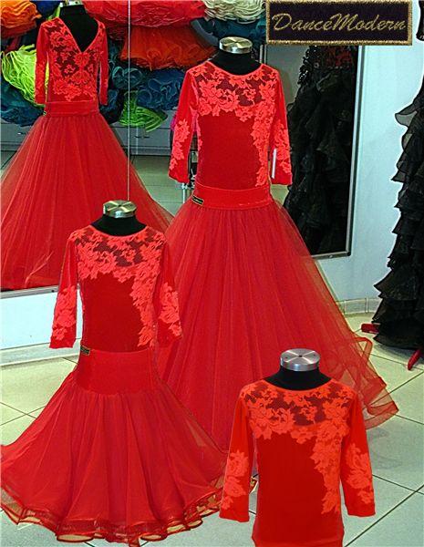 Платье - бейсик. Red-fat