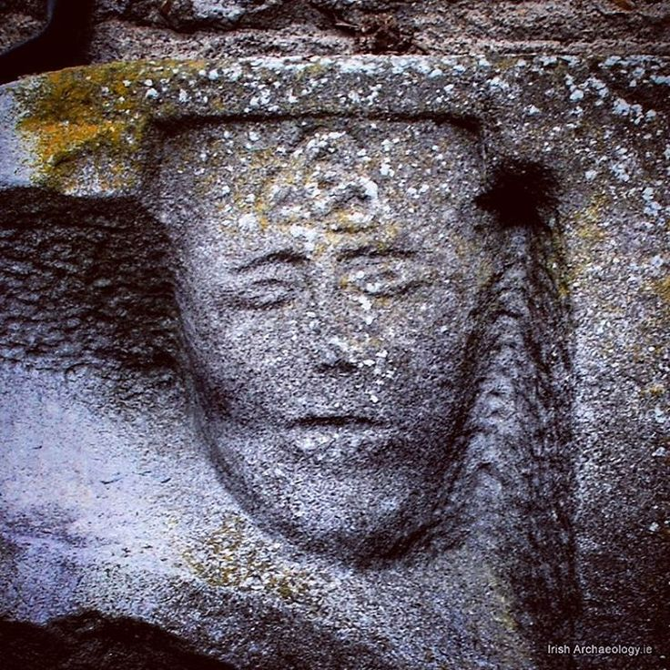 A medieval face with a trinity knot motif, St Mary's church, New Ross, Co Wexford #irisharchaeology