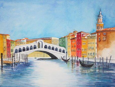 'Rialtobrücke Venedig' von Inez Eckenbach-Henning bei artflakes.com als Poster oder Kunstdruck $26.13