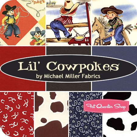 WINNING PIN! Congrats @fisty christmas-kitten ! Please send your full shipping addy to chelsey[at]fatquartershop[dot]com Lil' Cowpokes Fat Quarter Bundle Michael Miller Fabrics #FQSgiftguide #youngsters (sweet for little buckaroos)