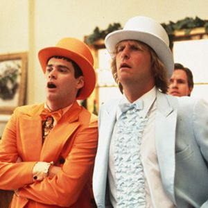 "A new sequel to ""Dumb and Dumber"" is coming, with Jim Carrey and Jeff Daniels reprising their roles. Let's hope Jim reprises his orange tux!"