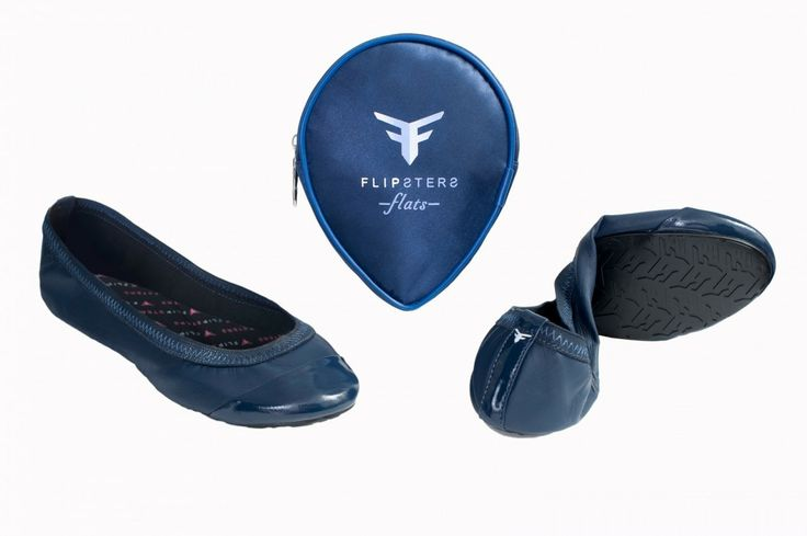 . folding flats - navy colour .