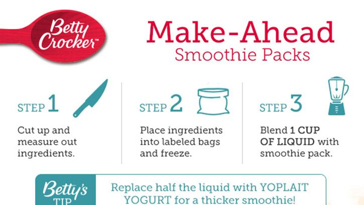 Simplify your morning routine by keeping a freezer full of your favorite smoothie packs on hand so you can wake, shake and be on your way!