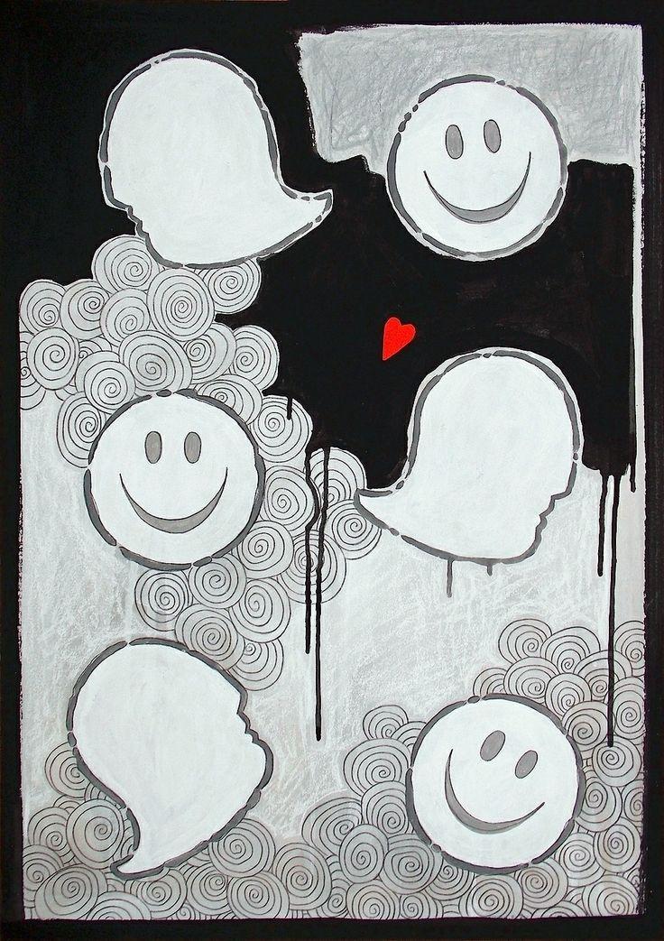 """andrea mattiello """"una luce nuova"""" acrilico, pastello e collage su cartone vegetale cm 51,5x72; 2014 #andreamattiello #contemporaryart #artecontemporanea #artist #artistaemergente #collage #cardboard #love #amore #smile"""