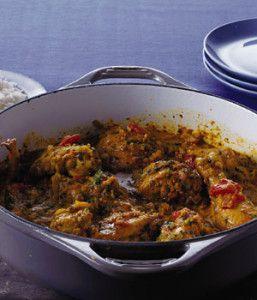 Recept voor curry met kip en cashewnoten