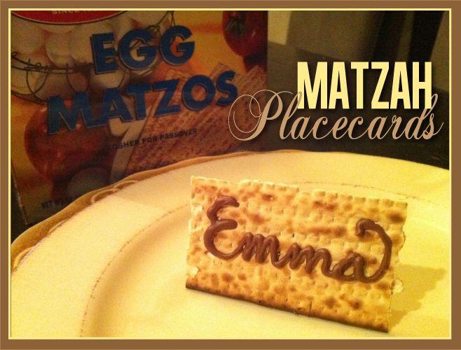 Matzah Placecards