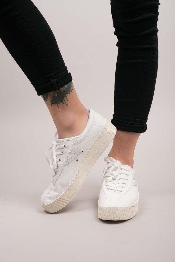 28b81eedf1ba Tretorn Nylite Bold Sneakers - Vintage White