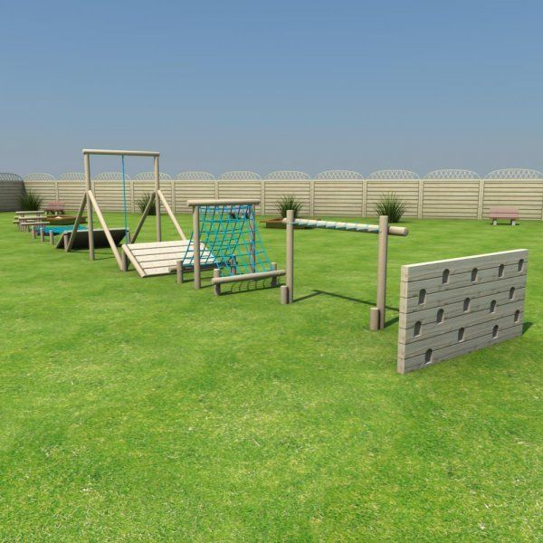 Children will love the challenging course of this fantastic Super Trim Trail!