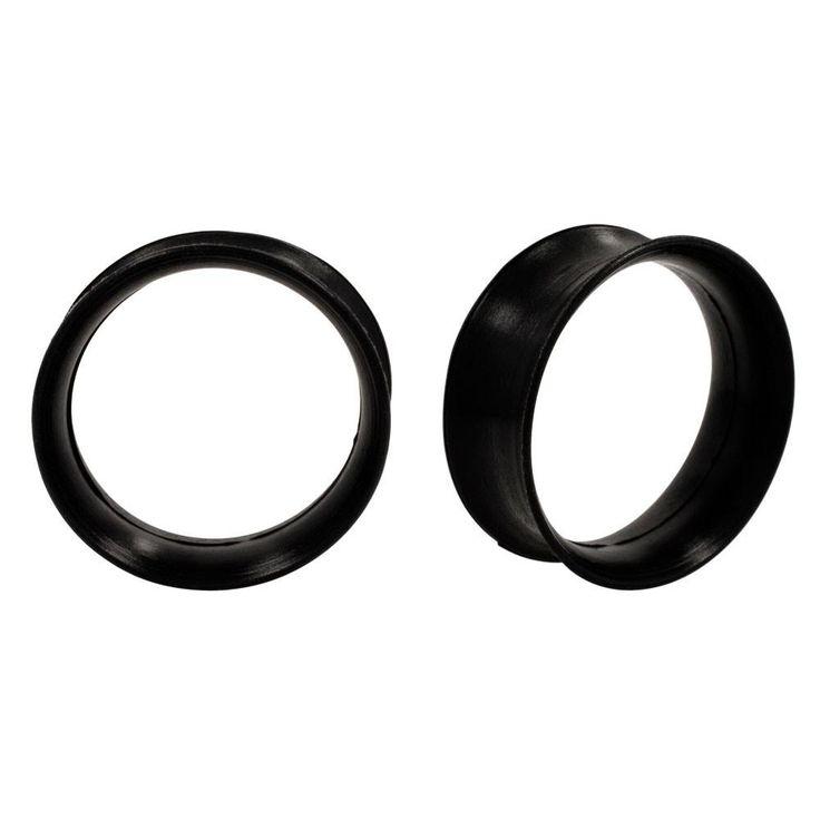 Earskins - Black Flexi Silicone Ear Plugs Hollow Tunnels