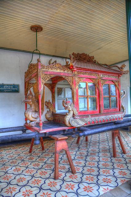 This is a vehicle to carry the king or queen. Old Palace - Yogyakarta, Java, Indonesia