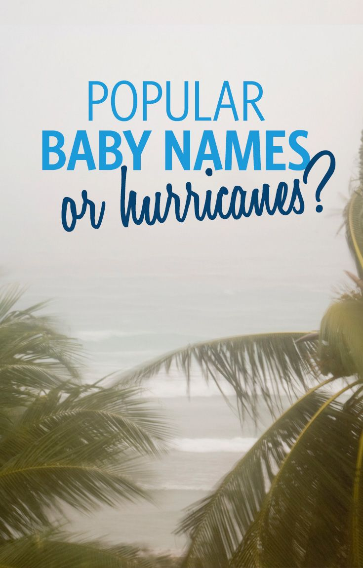 Hurricanes are given an official name once it hits tropical storm status (maximum sustained winds between 39-73 mph). While the original list only featured women's names, men's names were added to the list in 1979. Names of hurricanes can be reused over time, or retired if the storm was extremely destructive.