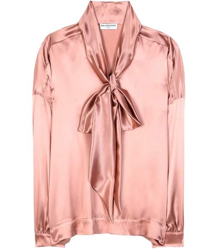 Pink satin silk blouse (inspiration, not planning to spend $1000 on a shirt any time soon)