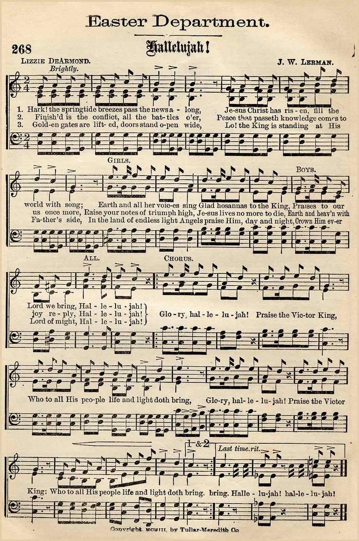 vintage music score