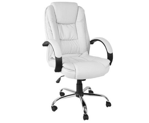 The PU Leather Thick Padding Office Chair provides comfortable seating and a sophisticated feel to your office or home at one time whilst keeping the price affordable. It conforms to the natural curve of the spine.   http://www.rosaelonline.com.au/product/executive-pu-leather-office-computer-chair-white/