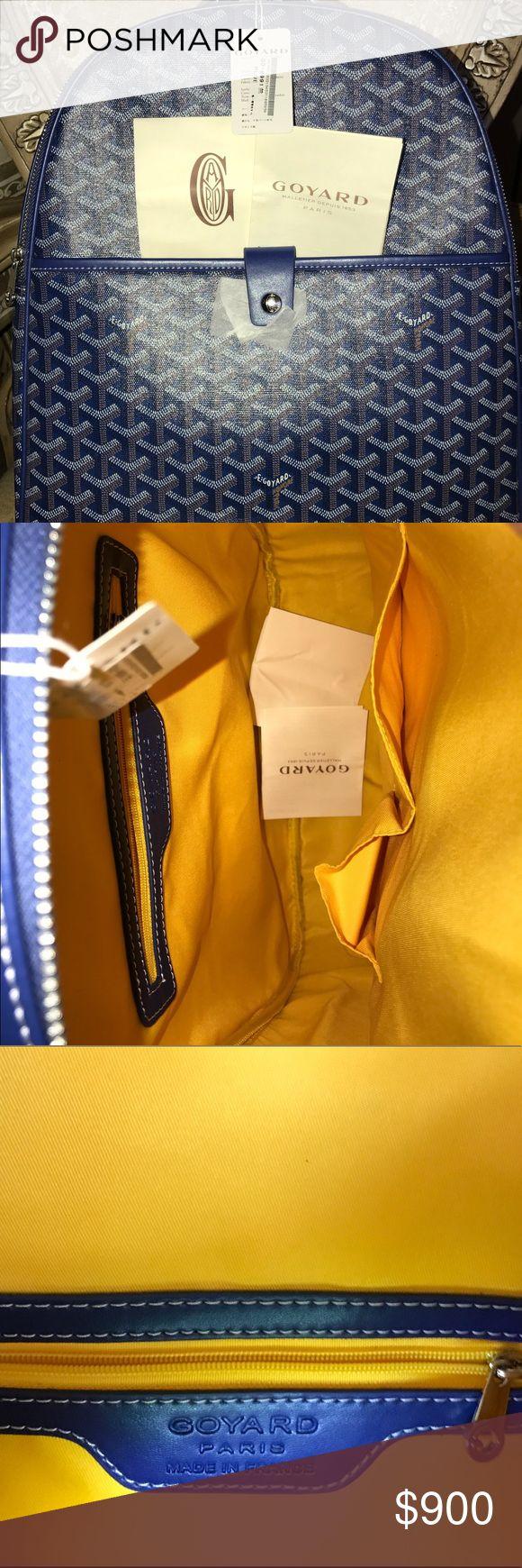 Bisexual GoYard Blue Backpack (Pre-Loved) Pre-loved Goyard Bisexual blue backpack Goyard Bags Backpacks