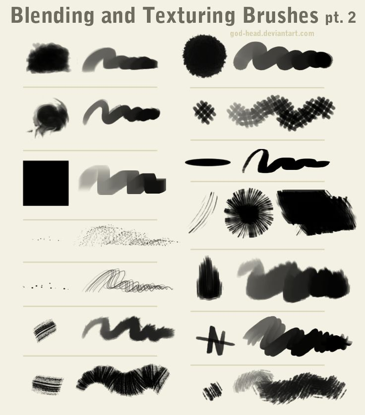 Blending And Texturing Brushes Pt 2 By God Head Deviantart Com On